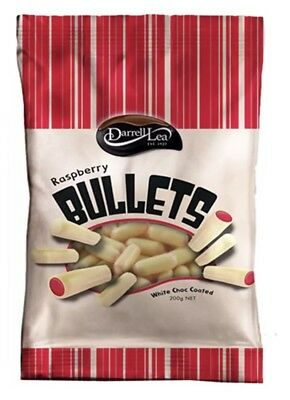 Darrell Lea White Chocolate Raspberry Bullets 200g x 2-Free Postage-Compare+Save