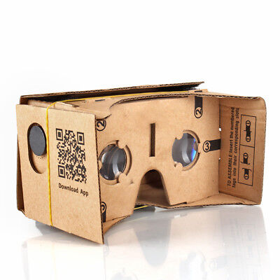 "Google Cardboard Virtual Reality Glasses, VR 3D Headset For Up To 5"" Smartphone"