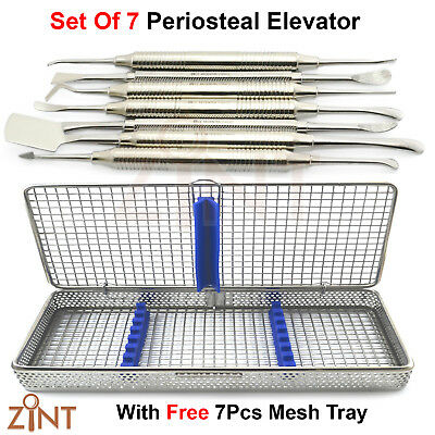 X7 Basic Periosteal Elevator Oral Surgery Implant Tools With Stainless Mesh Tray