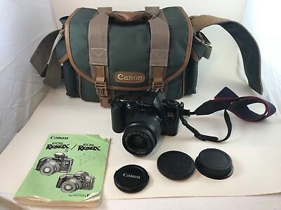 Canon EOS Rebel X 35mm Film SLR Camera with CANON 35-80 mm Lens w/CASE