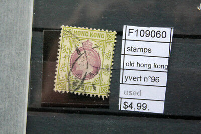 Lot Stamps Old Hong Kong Yvert N°96 Used (F109060)