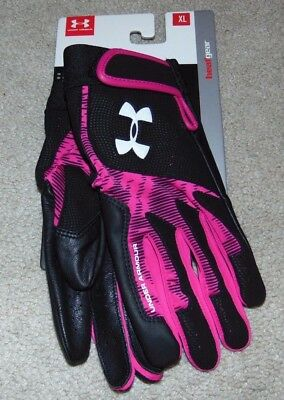 ~NWT Women's UNDER ARMOUR Radar Batting Gloves! Size XL Nice FS:)~