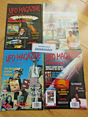 UFO Magazine - 4 X 1995 Editions - Area 51/ Roswell / Face On Mars / NASA