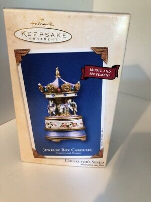 2003 HALLMARK KEEPSAKE ORNAMENT Jewery Box Carousel QX8197 Treasures & Dreams#2