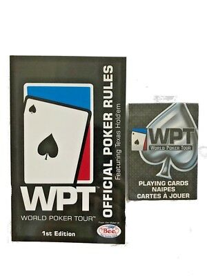 WPT World Poker Tour Official Poker Rules Book with 1 Deck of WPT Playing Cards