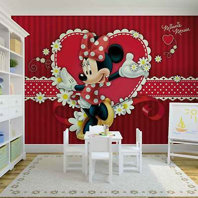 TAPETE VLIES FOTOTAPETE für Kinderzimmer Walt Disney Minnie Mouse ...