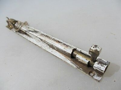 "Vintage Brass Door Lock Bolt Bathroom Lock WC Toilet Old Antique Keep   6.5""L"