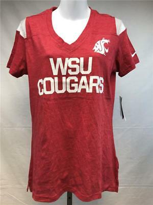 cfe2edd6cf72 New Washington State Cougars Womens Sizes S-L Red V-Neck Nike Shirt MSRP  42