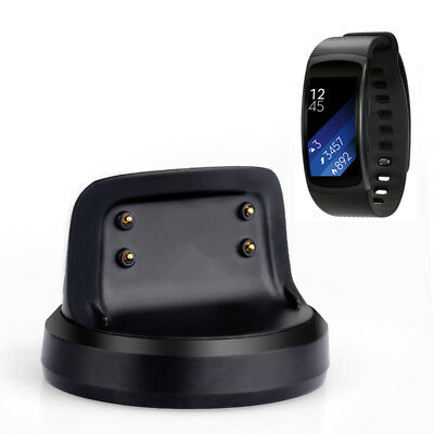 1X For Samsung Gear Fit 2 Smart Watch Dock Station Charger USB Charging Cable BK