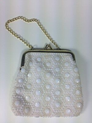 Vintage White Snap Coin Purse