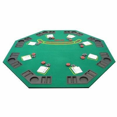 "Poker & Blackjack Folding Table Top, Two-Sided w/ Cup & Chip Holders, 48"" X 48"""