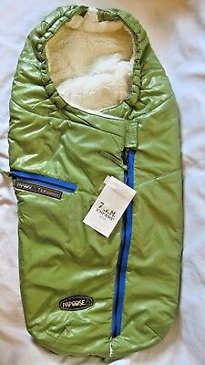 New 7AM Enfant Papoose Light Weight Baby Bunting Green Tea Foot Muff S/M (0-18M)