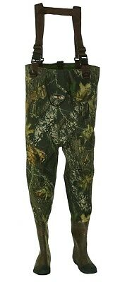 Pro Line Men's Teal: 2 Ply Chest Fishing Water Waders - Sunrise - Mens Size 14