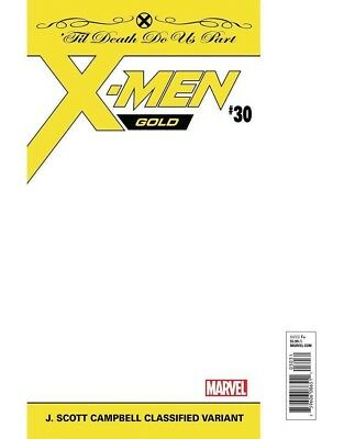 X-Men Gold 30 J Scott Campbell Classified Sealed In A Polybag Variant Nm