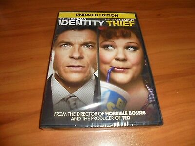 Identity Thief (DVD Widescreen Unrated 2013) Melissa Mccarthy, Jason Bateman NEW