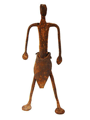 Extremely Rare African Tribal Antique Dogon Hand Forged Iron Figure #3