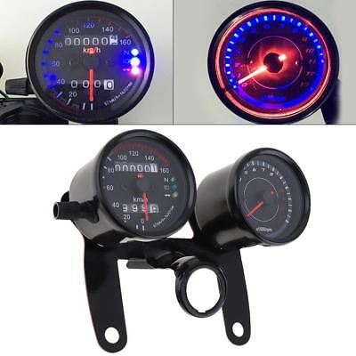 Motorcycle LED Backlight Odometer & Tachometer Speedometer Dual Gauge for Halley