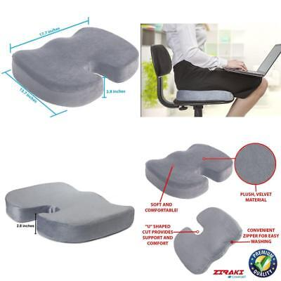 Orthopedic Coccyx Seat Cushion Pillow Back Support Tailbone Sciatica Pain Relief