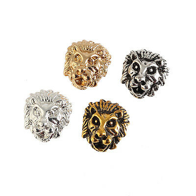 Alloy Animals Tiger Beads Charms Spacer For DIY Bracelet Jewelry Accessory 10pcs