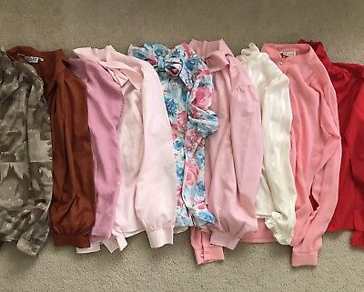 Lot Of 9 Vintage 70 S 80 S Long Short Sleeve Shirts Tops Blouses