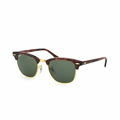 Ray-Ban RB3016-W0366 Clubmaster Sunglasses Tortise Frame Green Lens