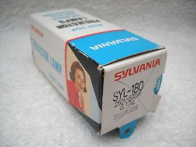 **SYLVANIA SYL-180 250v 500w PROJECTOR LAMP NOS IN ORIGINAL BOX MADE IN JAPAN**