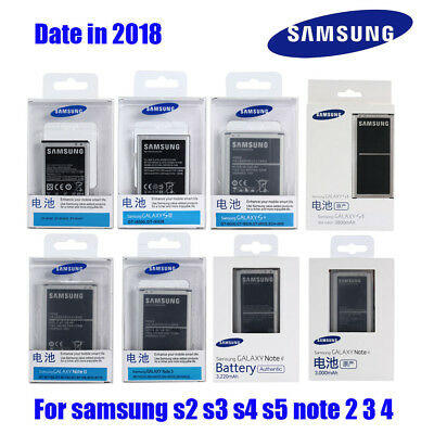 Original Samsung Battery For Samsung Galaxy S2 S3 S4 S5 Note 2 Note 3 Note 4 NFC