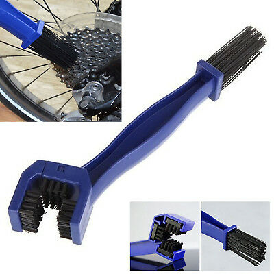 NEW!Motorcycle Bicycle Chain Wheel Cleaning Brush Motorbike Cleaner Double-End