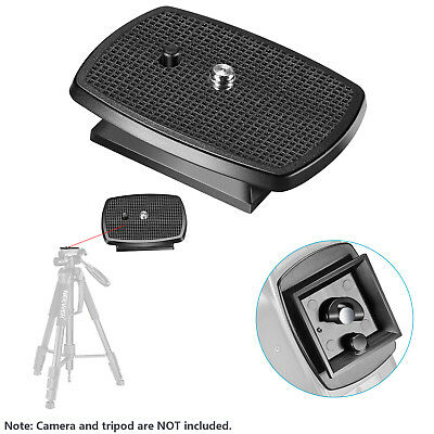 Neewer 2-Pack Black Quick Shoe QR Plate Tripod Head with Anti-slip Rubber Pads