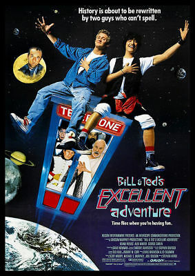 Bill And Ted Vintage Movie Poster A5..a4 And A3 Options