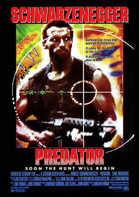Predator Vintage Movie Poster A5..a4 And A3 Options
