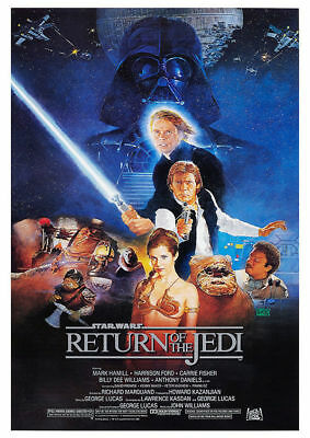 Return Of The Jedi Vintage Movie Poster A5..A4 And A3 Options