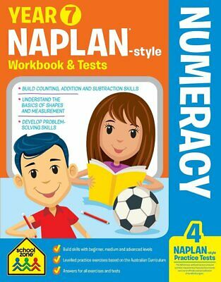School Zone Year 7 Naplan-Style Numeracy Workbook and Tests NEW - Free Postage