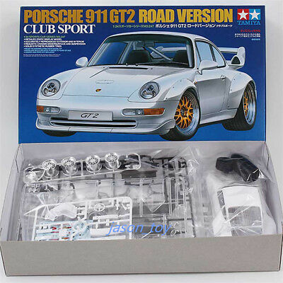Tamiya 24247 1/24 Model Car Kit Porsche 911 GT2 Road Version Club Sport 993 NEW