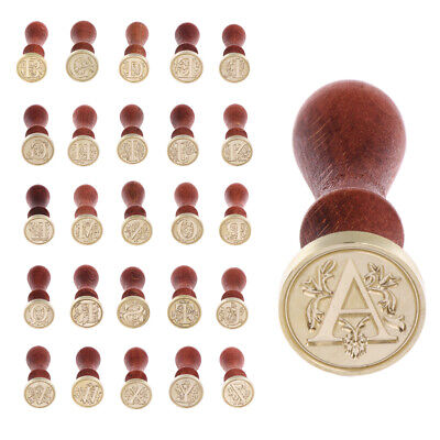 Sealing Wax Classic Initial Wax Seal Stamp Alphabet Letter A-Z Unique Gift