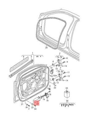 Genuine Basic Plate Front Left A Right AUDI A3 Cabriolet 8V0804631B