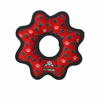 Red Ultimate Dog Toy Ultimate Gear Ring Red Paw Interactive Pet Dog Puppy Toy
