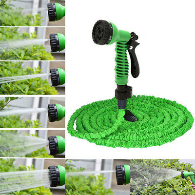 Hot Latex 25 50 75 100 FT Expanding Flexible Garden Water Hose with Spray Nozzle