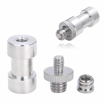 "1/4'' Male to 3/8"" Male Threaded Camera Screw Adapter For Tripod Mount Holder"