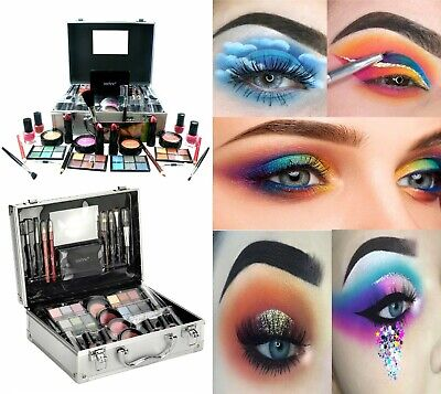 Technic Large Beauty Train Case With Cosmetics Make Up Set