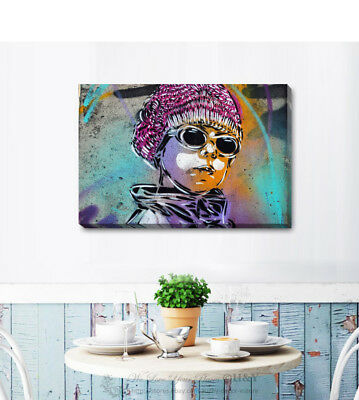Graffiti Stretched Canvas Print Framed Wall Art Home Office Shop Decor Gift A342