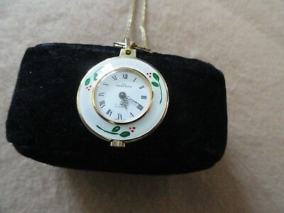 Swiss Made Pencron 17 Jewels Incabloc Mechanical Wind Up Necklace Pendant Watch