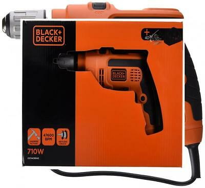 Black + Decker CD714CREW2 Perceuse à percussion 710 W