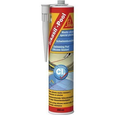 Sikasil Pool - Mastic silicone spécial joint pour piscine 300ml Transparent