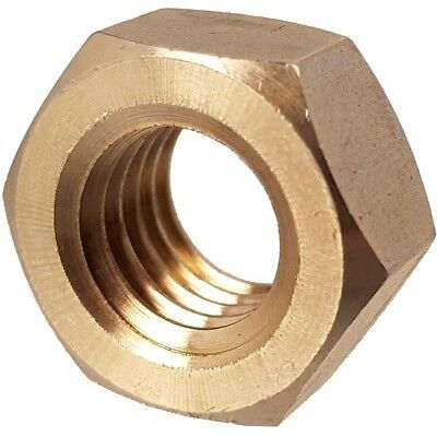 M2 SOLID BRASS FULL HEX NUTS 0.4mm Coarse Thread Pitch Metric Hexagon Bolt Screw