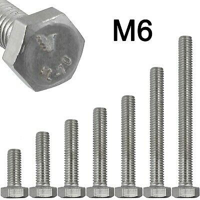 12MM M12 HEXAGON HEX HEAD FULLY THREADED A2 STAINLESS STEEL