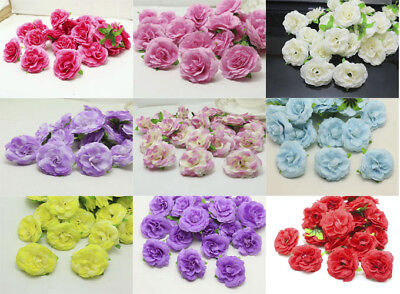 100 Artificial rose Flower Heads Simulation Flower for Wedding  Party Decoration