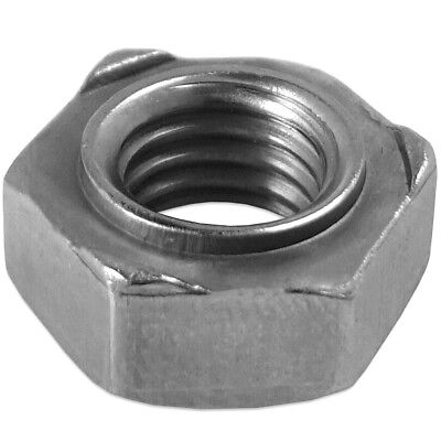 SMALL M5 HEXAGONAL WELDING NUTS Weld On Screw/Bolt Hex Fittings STRONG A2 STEEL
