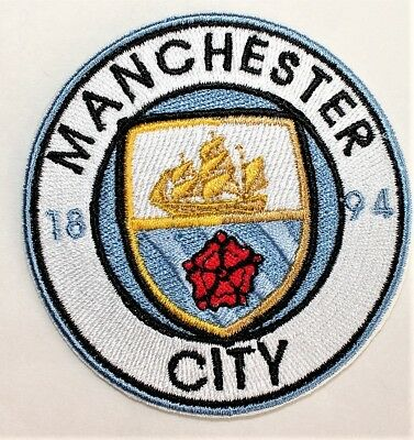Manchester City Soccer Team crest  Iron-on Patch- FREE SHIPPING - US