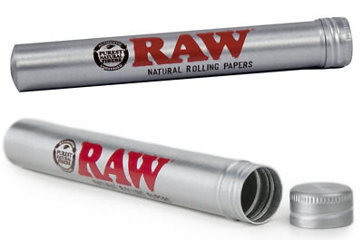 RAW Aluminum King Size 109MM - 2 TUBES - Cone Blunt Cigar J DOOB Holder Smell